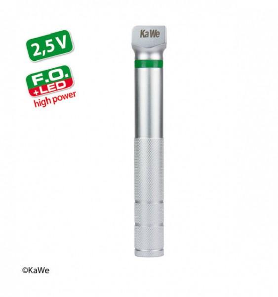 Laryngoskop-Griff, Fiberoptik, LED high power 2,5V